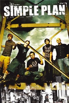 Simple-Plan-On-Scaffold-POSTER-60x90cm-NEW-Pierre-Sebastian-David-Chuck-Jeff