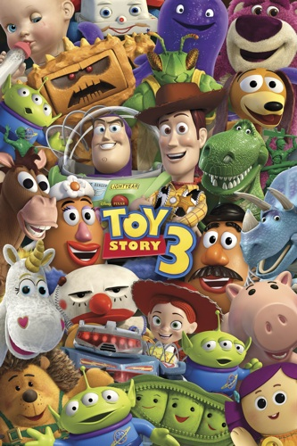 TOY STORY 3 =POSTER= Buzz Woody Alien Jessie Rex +++NEW