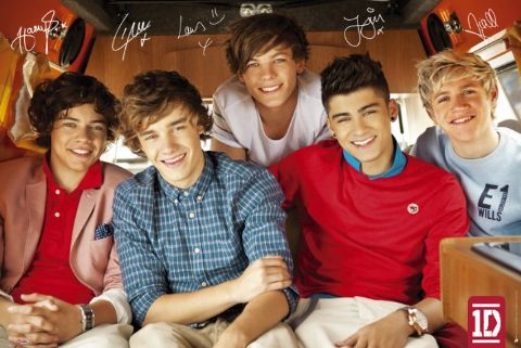 One-Direction-Red-POSTER-60x90cm-NEW-Zayn-Harry-Niall-Liam-Louis-Signatures