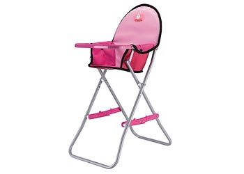 CHICA-Folding-High-Chair-Pink-DOLL-SEAT-NEW-girl-toy-pretend-play-parent