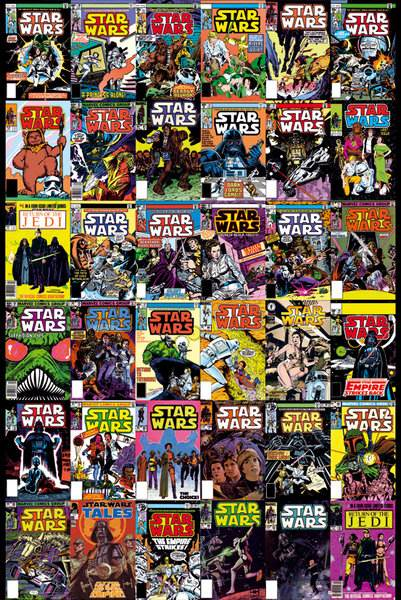 Book Cover Collage Poster ~ Star wars comic covers poster cm new cover