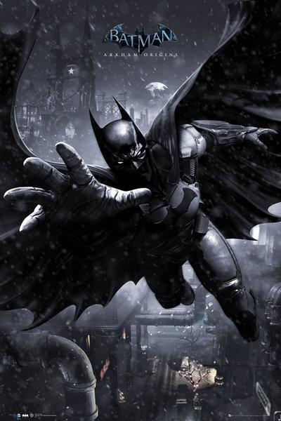 Batman-Arkham-Origins-Batman-Swing-POSTER-61x91cm-NEW