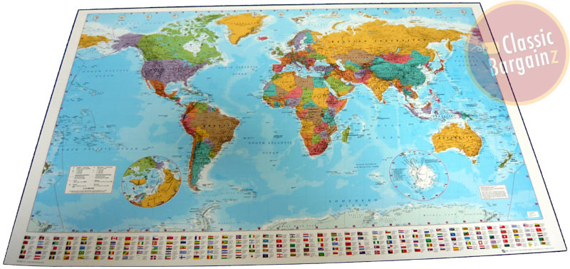 Flag map poster world flag map poster sciox Choice Image