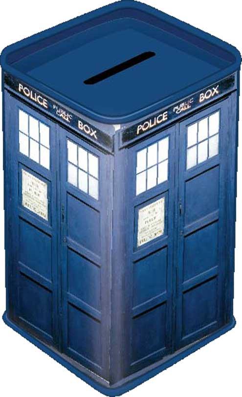 Doctor who tardis money box metal tin new coin saver bank ebay - Tardis piggy bank ...