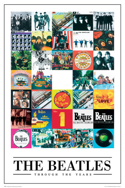 The-Beatles-Through-the-Years-POSTER-60x90cm-NEW-revolver-sgt-pepper-coverart