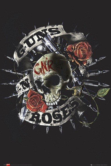 Guns-n-Roses-Skull-POSTER-60x90cm-NEW-band-music-artwork