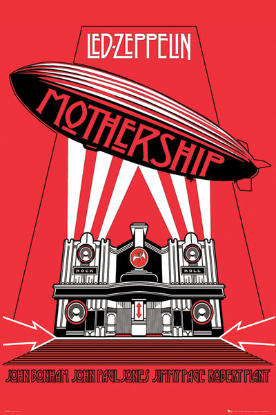 Led-Zeppelin-Mothership-POSTER-60x90cm-NEW-band-artwork-blimp-jimmy-page-plant