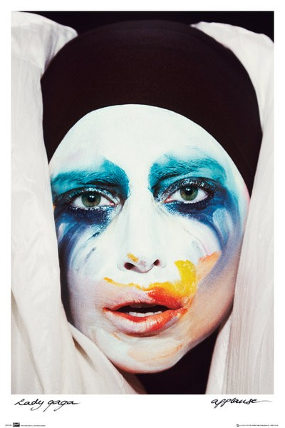 Lady-Gaga-Applause-POSTER-61x91cm-NEW-pop-singer-face-painted