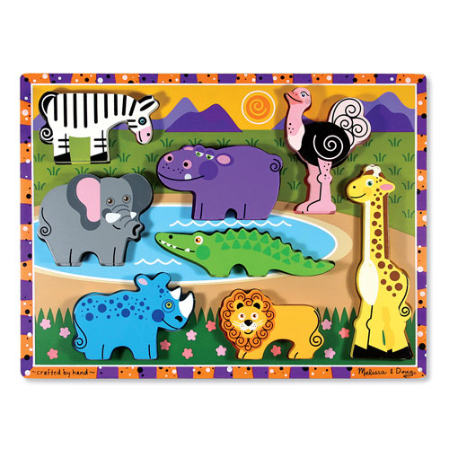 Melissa-and-Doug-Safari-Animal-Chunky-Puzzle-NEW-thick-easy-grasp-wooden