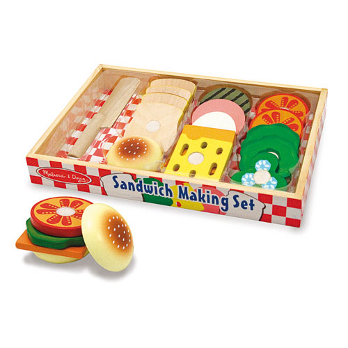 Melissa-and-Doug-Sandwich-making-Set-17-Pieces-Set-NEW-role-play-bread-knife