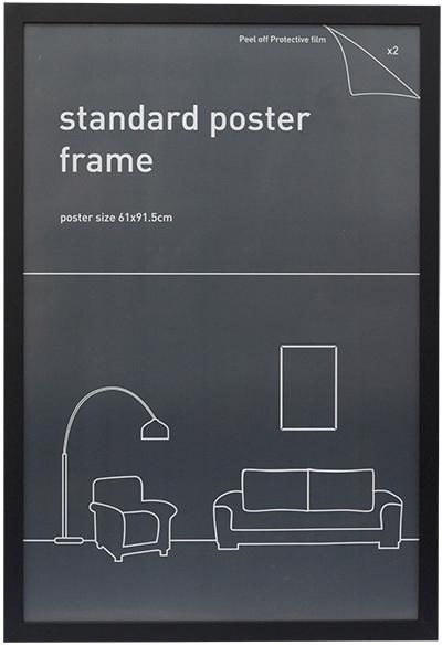 Maxi Poster Frame 61cm x 91 5cm 24 x 36 Wood Black Border NEW pick up ...