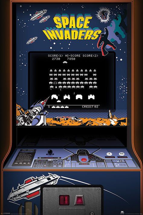 Space Invaders - Console POSTER 60x90cm NEW * classic ...