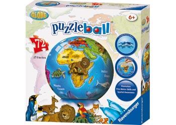 ravensburger childrens globe puzzleball 72 piece new. Black Bedroom Furniture Sets. Home Design Ideas