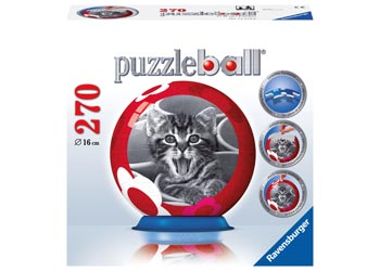 Ravensburger-Cool-Cats-270-pieces-Puzzle-Ball-NEW-3D-jigsaw-puzzleball-cat