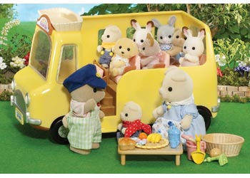 sylvanian families nursery bus new miniature model picnic table food toys ebay. Black Bedroom Furniture Sets. Home Design Ideas