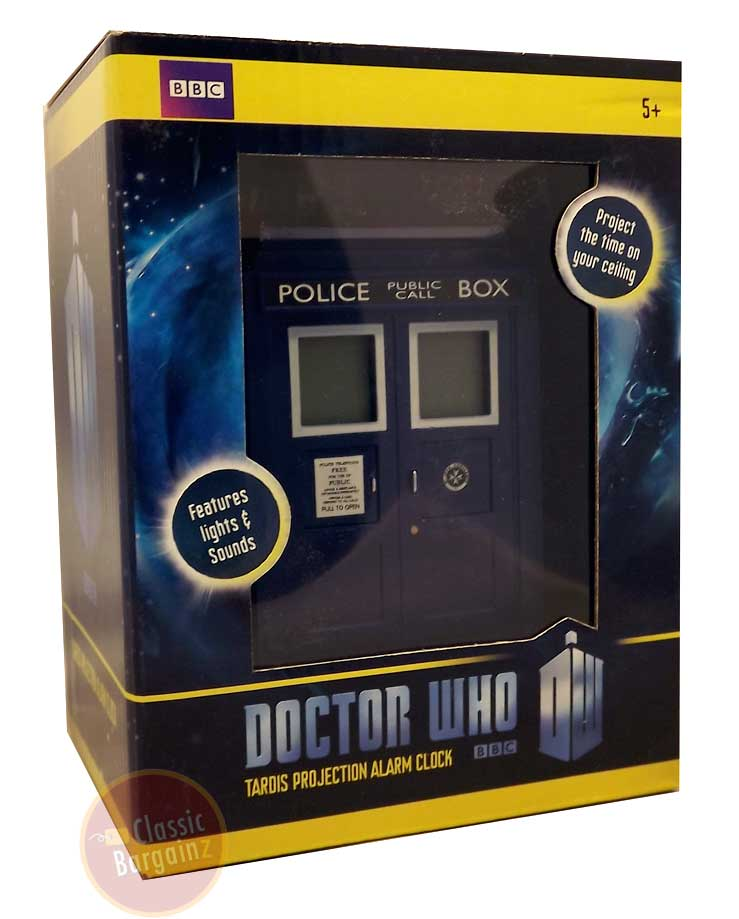 Doctor who tardis projection alarm clock new in box projects time ebay - Tardis alarm clock ...