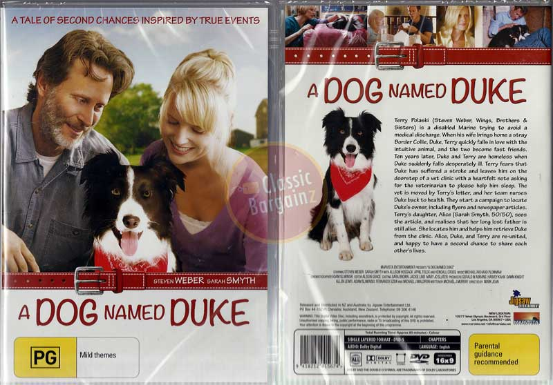 dog named duke Duke even though he was dog, understanding that his master was in grave problem, assumed the responsibility to bring him back to normality and helped chuck to get over his paralysation.