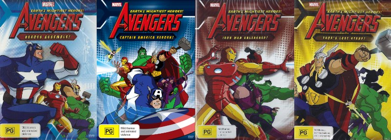 Avengers-Earths-Mightiest-Heroes-Volume-1-2-3-4-DVD-NEW-Marvel-iron-man-thor