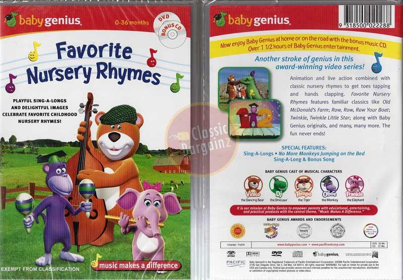 Baby Genius - Favourite Nursery Rhymes (DVD, 2007) | eBay