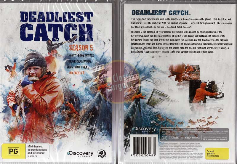 Deadliest catch season 5 tv series fishing 4 dvd discovery for Fishing shows on discovery channel