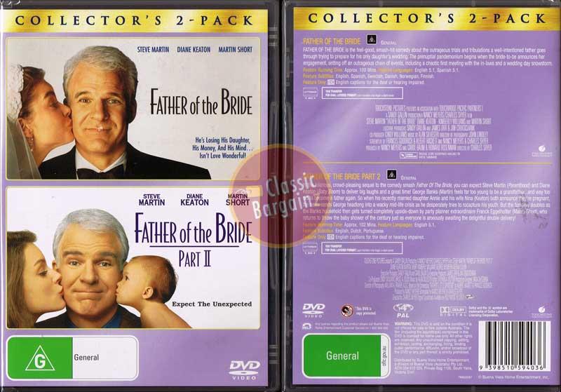 FATHER OF THE BRIDE 1 2 DVD Steve Martin Short D Keaton