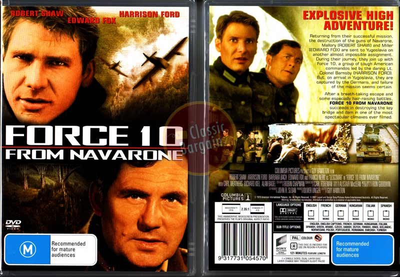 FORCE 10 FROM NAVARONE Harrison Ford Robert Shaw DVD R4 | eBay