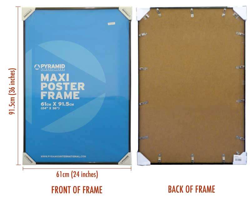 Poster Frame * suitable for use with 60 x 90 cm size poster * New