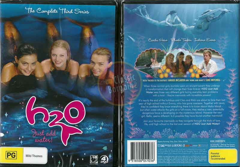 H2o just add water series 3 4 discs new dvd h20 tv for Just add water series