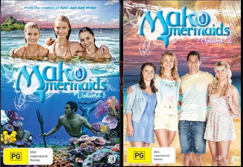 Mako mermaids volume 1 2 new 4 dvd tv series by h2o for Just add water series