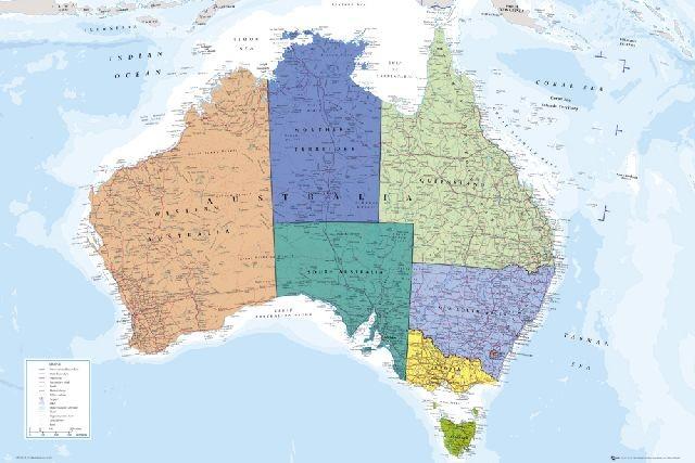 地图澳大利亚