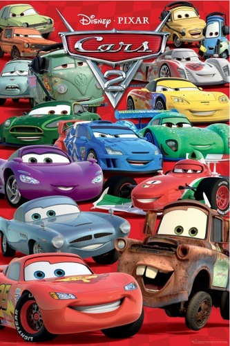 CARS 2 Characters Collage POSTER disney pixar 60x90 NEW | eBay