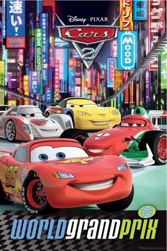 CARS 2 Tokyo POSTER disney pixar World Grand Prix NEW | eBay