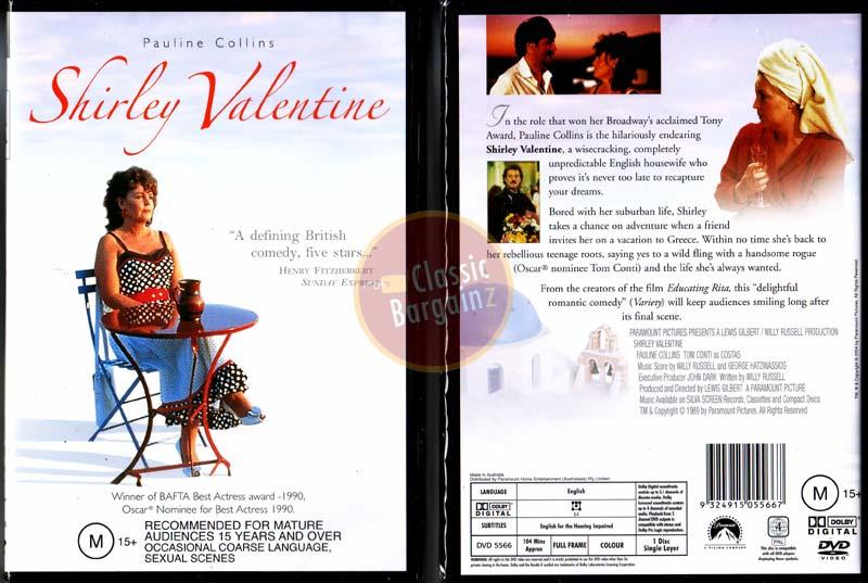 SHIRLEY VALENTINE Pauline Collins Tom Conti NEW DVD R4 (Region 4 Australia)  | EBay