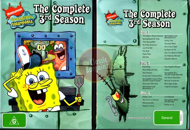 Spongebob Seasons Dvd Spongebob Squarepants Season 3