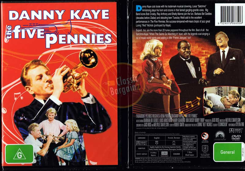 The-Five-Pennies-NEW-DVD-Danny-Kaye-Louis-Armstrong-Bob-Crosby
