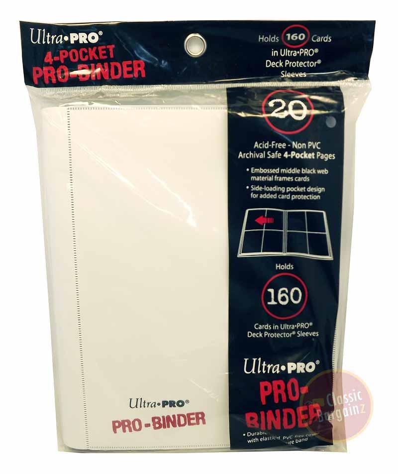 ULTRA PRO 4-Pocket PRO Binder White Trading Card Album