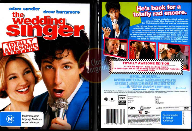 Description You Are Bidding For A Brand New And Sealed DVD The Wedding Singer Starring Adam Sandler Drew Barrymore
