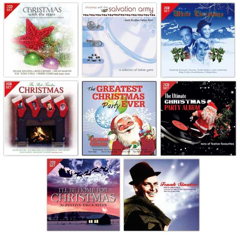 Christmas-Music-CD-x-8-CDs-NEW-Frank-Sinatra-Salvation-Army-Band-Festive-Songs